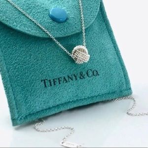Tiffany & Co. Silver Mesh Knot Twist Necklace